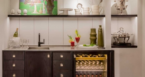 PB Kitchen Design Wet Bar Beverage Station Signature Custom Cabinetry e1484926658210